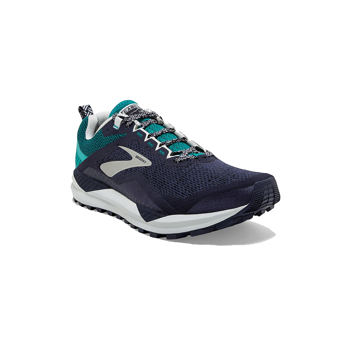 Men's Brooks Cascadia 14 Trail Running Shoe - Color: Navy/Blue Grass - Size: 7 - Width: Regular, Navy/Blue Grass, large, image 4