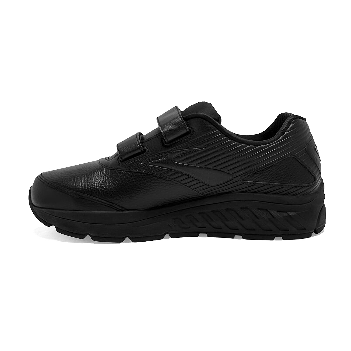 Men's Brooks Addiction Walker V-Strap 2 Walking Shoe - Color: Black/Black - Size: 7 - Width: Regular, Black, large, image 2