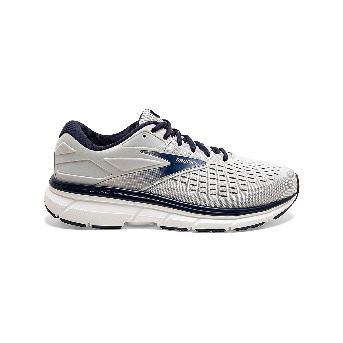 Men's Brooks Dyad 11 Running Shoe - Color: Antarctica/Grey/Peacoat (Regular Width) - Size: 7, Antarctica/Grey/Peacoat, large, image 1