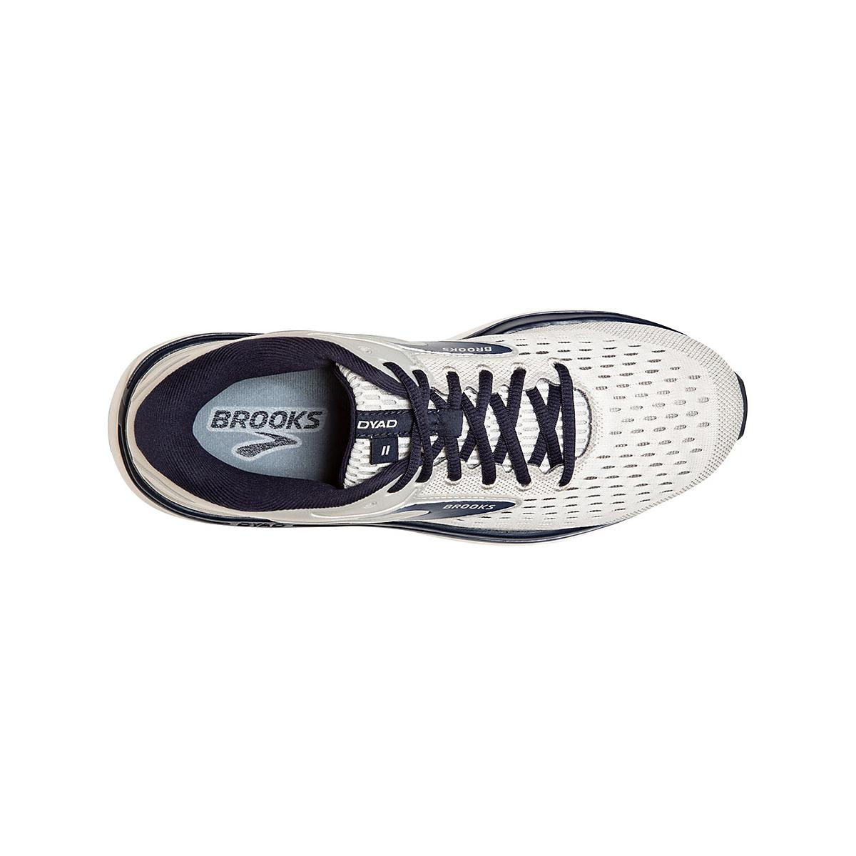 Men's Brooks Dyad 11 Running Shoe - Color: Antarctica/Grey/Peacoat (Regular Width) - Size: 7, Antarctica/Grey/Peacoat, large, image 4