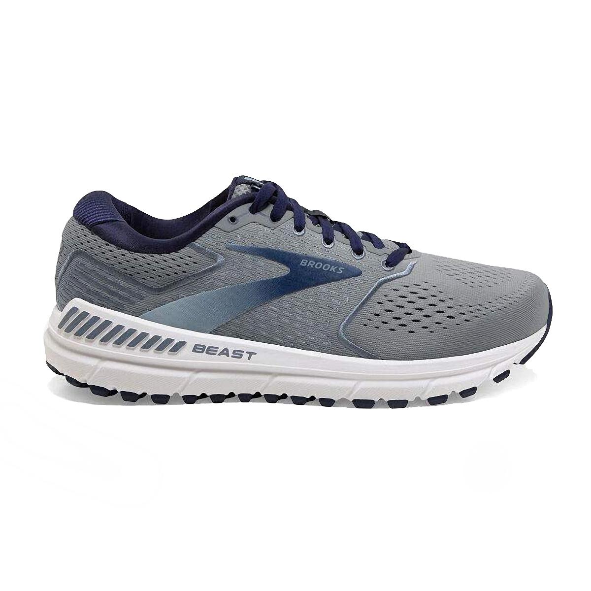 Men's Brooks Beast 20 Running Shoe - Color: Blue/Grey/Peacoat (Regular Width) - Size: 8, Blue/Grey/Peacoat, large, image 1