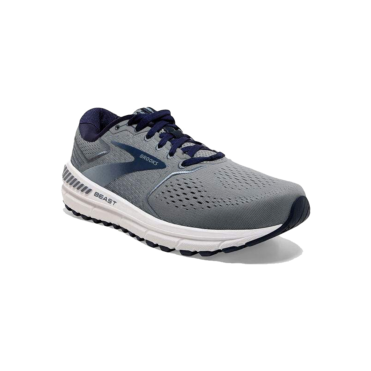 Men's Brooks Beast 20 Running Shoe - Color: Blue/Grey/Peacoat (Regular Width) - Size: 8, Blue/Grey/Peacoat, large, image 4