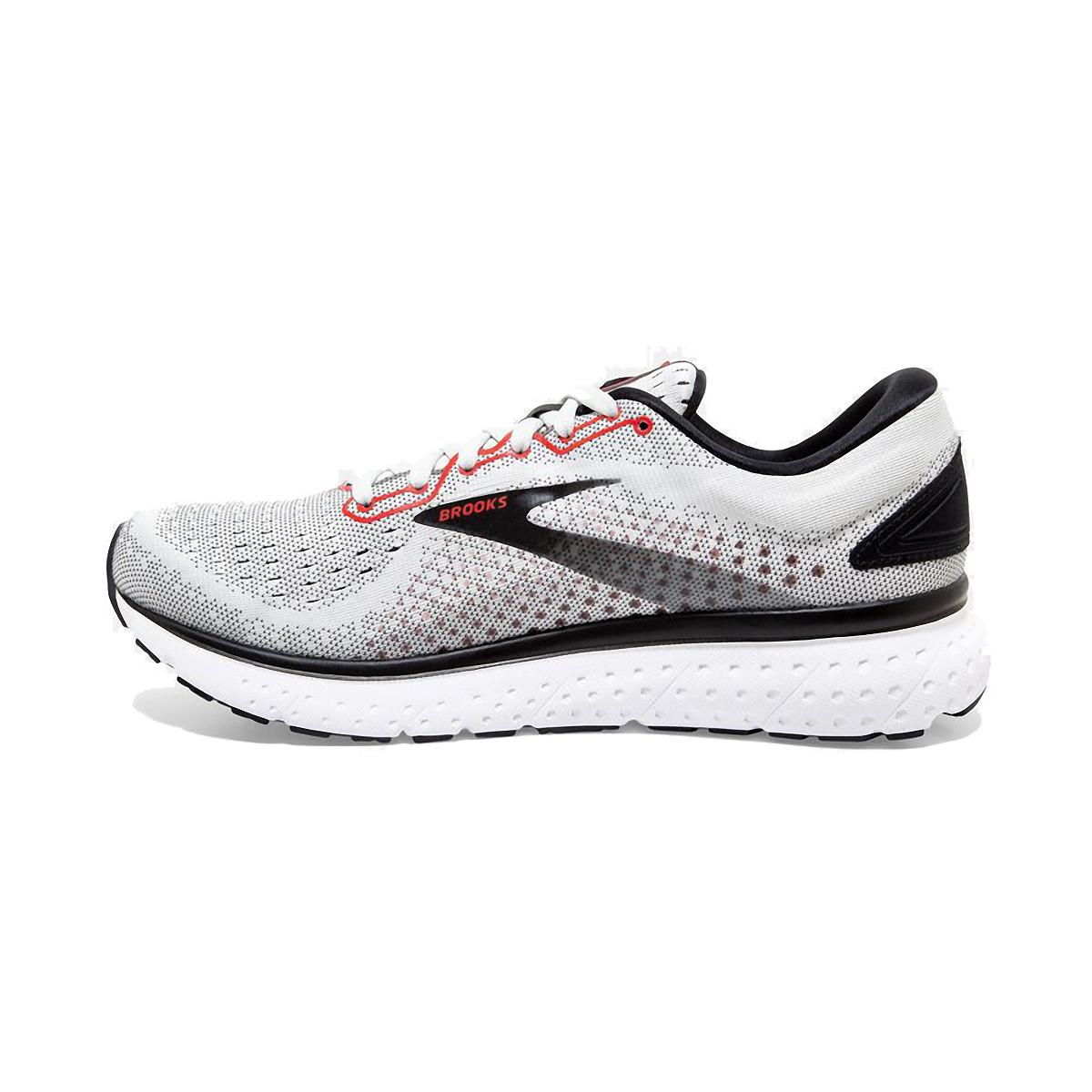 Men's Brooks Glycerin 18 Running Shoe - Color: White/Black/Red - Size: 7 - Width: Regular, White/Black/Red, large, image 2
