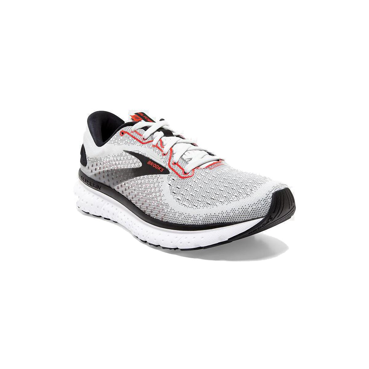 Men's Brooks Glycerin 18 Running Shoe - Color: White/Black/Red - Size: 7 - Width: Regular, White/Black/Red, large, image 4