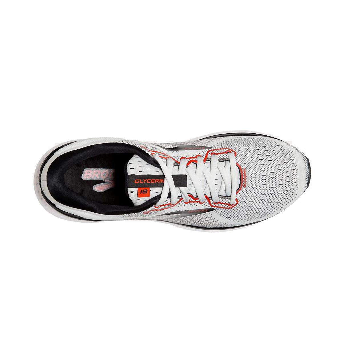 Men's Brooks Glycerin 18 Running Shoe - Color: White/Black/Red - Size: 7 - Width: Regular, White/Black/Red, large, image 5
