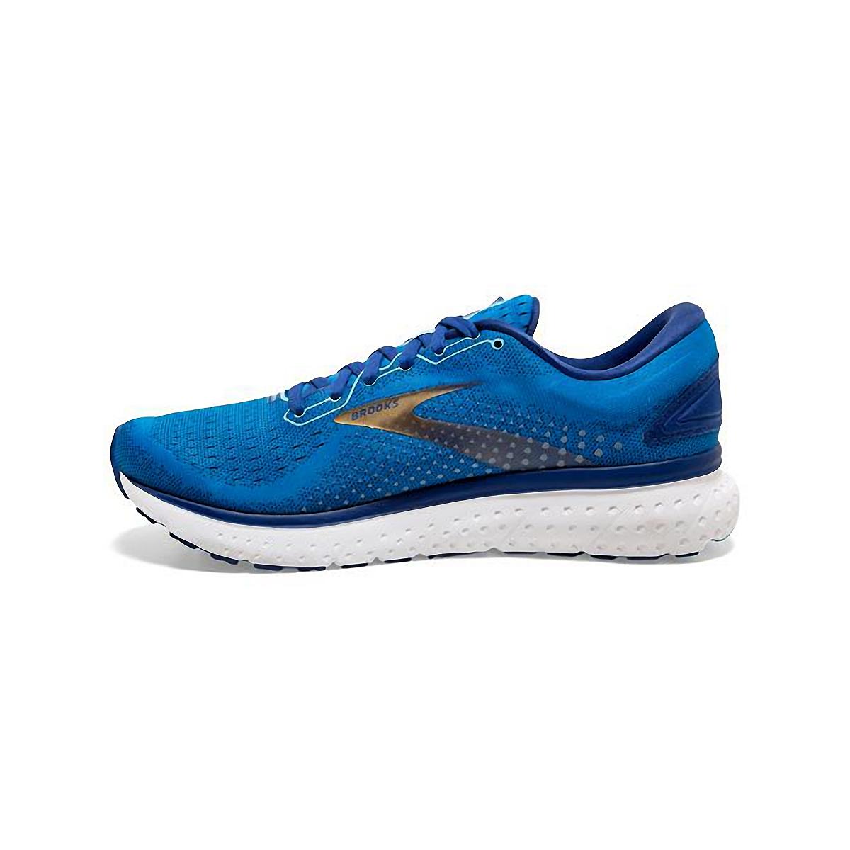 Men's Brooks Glycerin 18 Running Shoe - Color: Blue/Marazine/Gold - Size: 7 - Width: Regular, Blue/Marazine/Gold, large, image 2