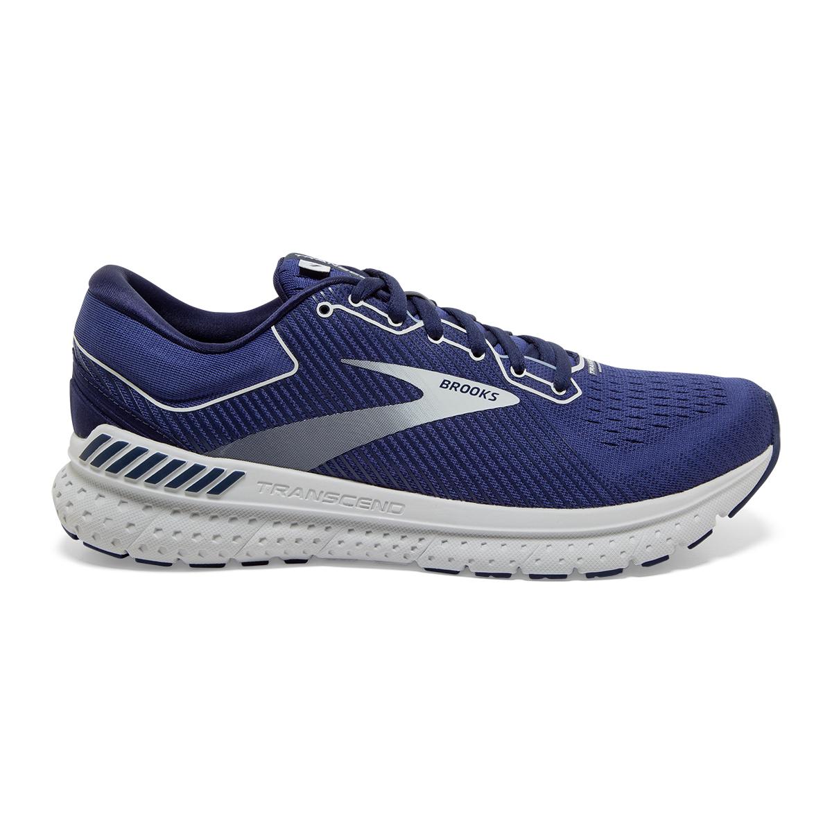 Men's Brooks Transcend 7 Running Shoe - Color: Deep Cobalt/Grey - Size: 7 - Width: Regular, Deep Cobalt/Grey, large, image 1