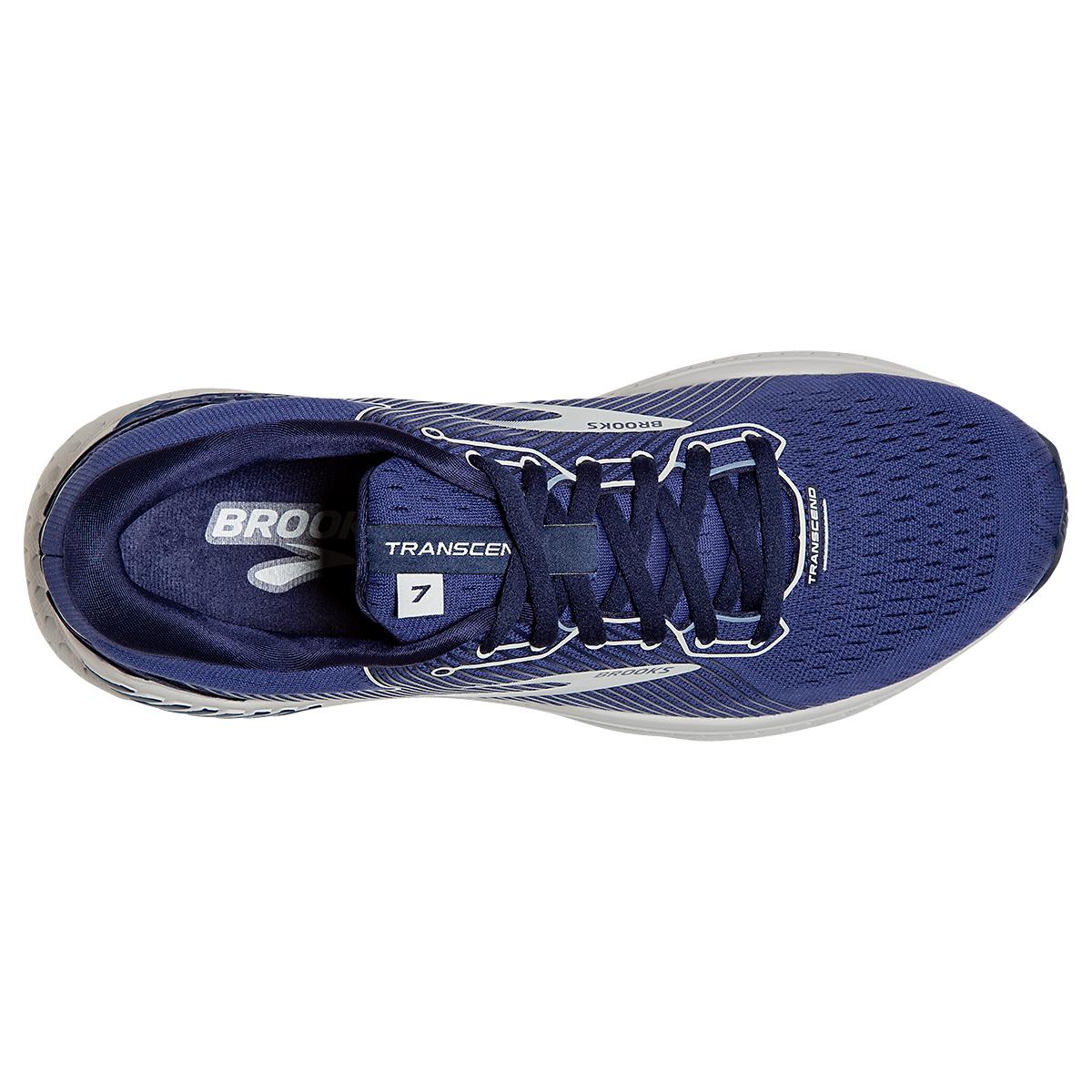 Men's Brooks Transcend 7 Running Shoe - Color: Deep Cobalt/Grey - Size: 7 - Width: Regular, Deep Cobalt/Grey, large, image 2