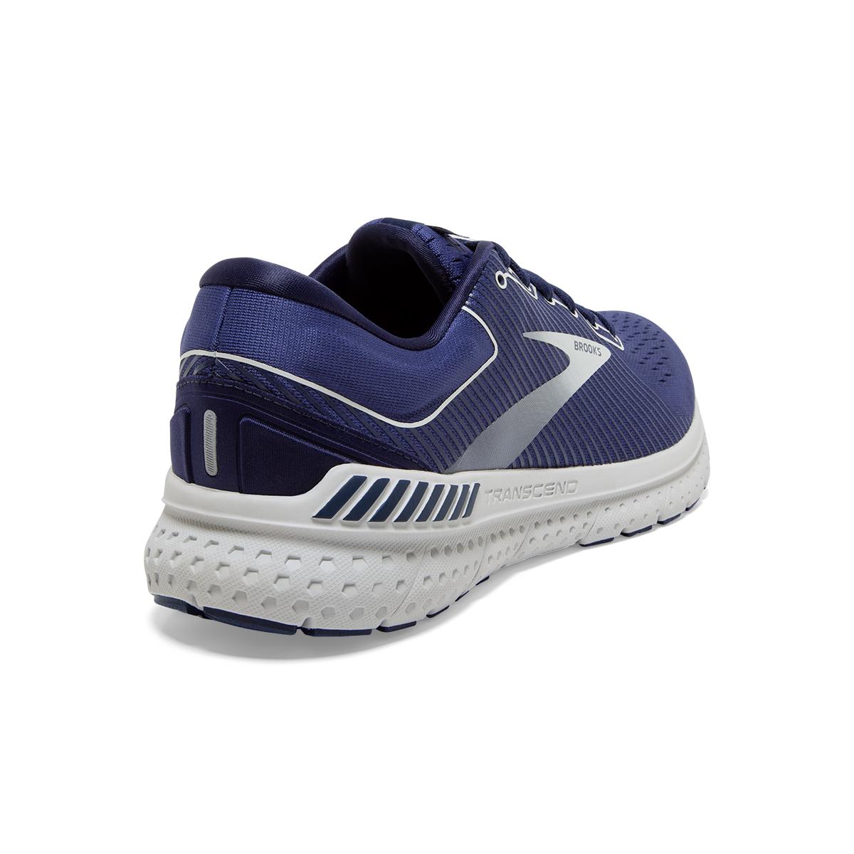 Men's Brooks Transcend 7 Running Shoe - Color: Deep Cobalt/Grey - Size: 7 - Width: Regular, Deep Cobalt/Grey, large, image 4