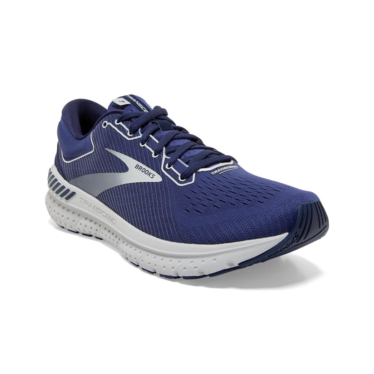 Men's Brooks Transcend 7 Running Shoe - Color: Deep Cobalt/Grey - Size: 7 - Width: Regular, Deep Cobalt/Grey, large, image 6