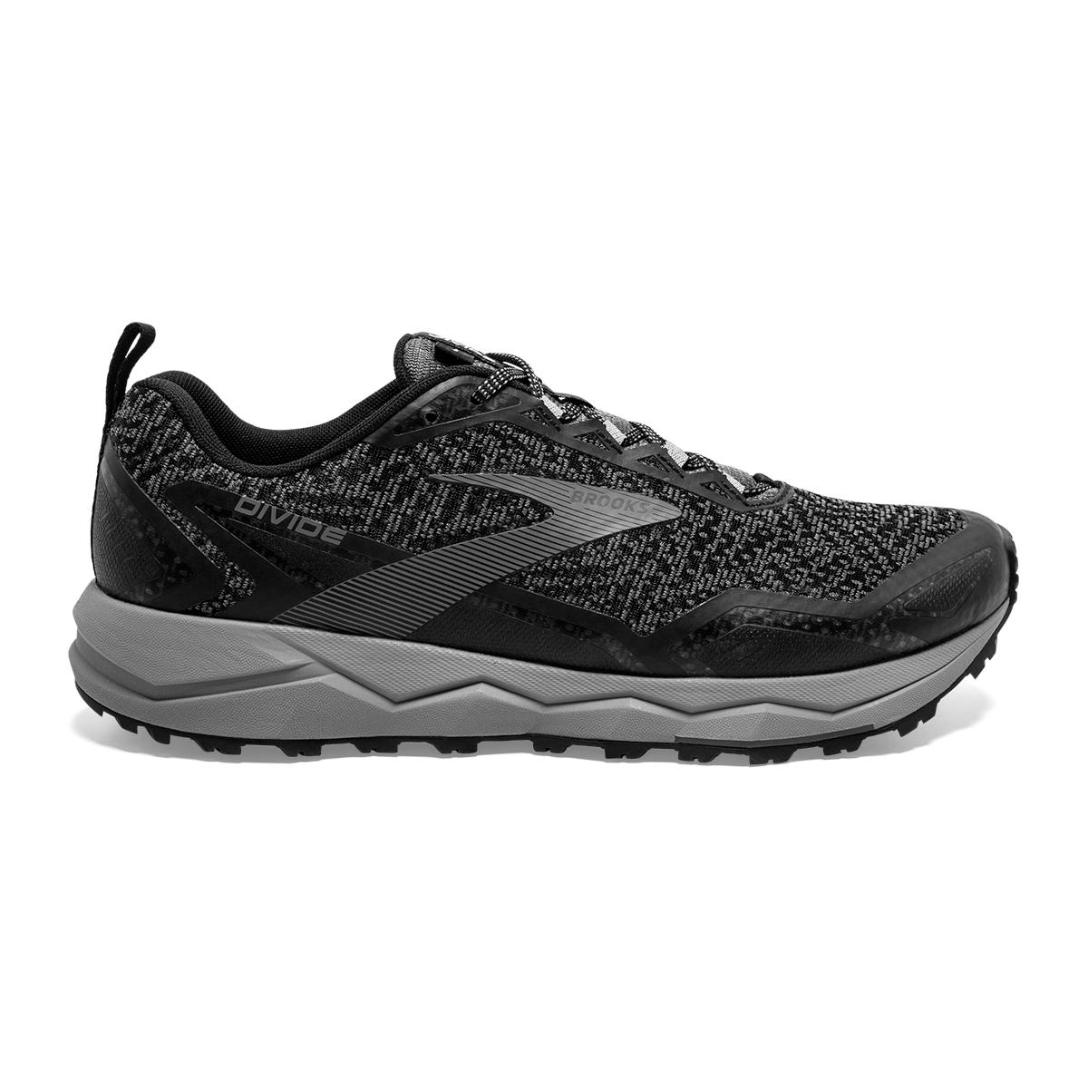 Men's Brooks Divide Trail Running Shoe - Color: Black/Grey (Regular Width) - Size: 7, Black/Grey, large, image 1