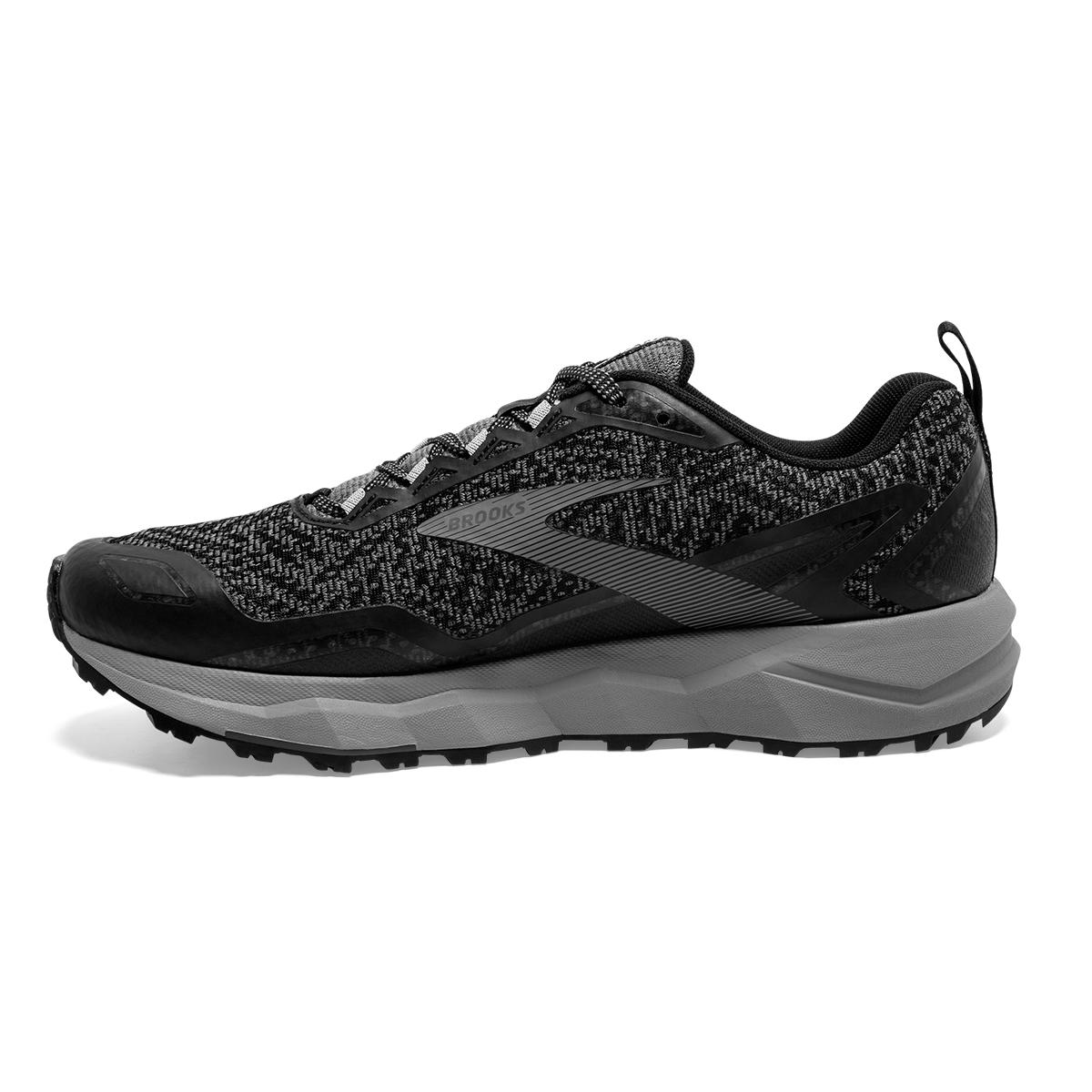Men's Brooks Divide Trail Running Shoe - Color: Black/Grey (Regular Width) - Size: 7, Black/Grey, large, image 2