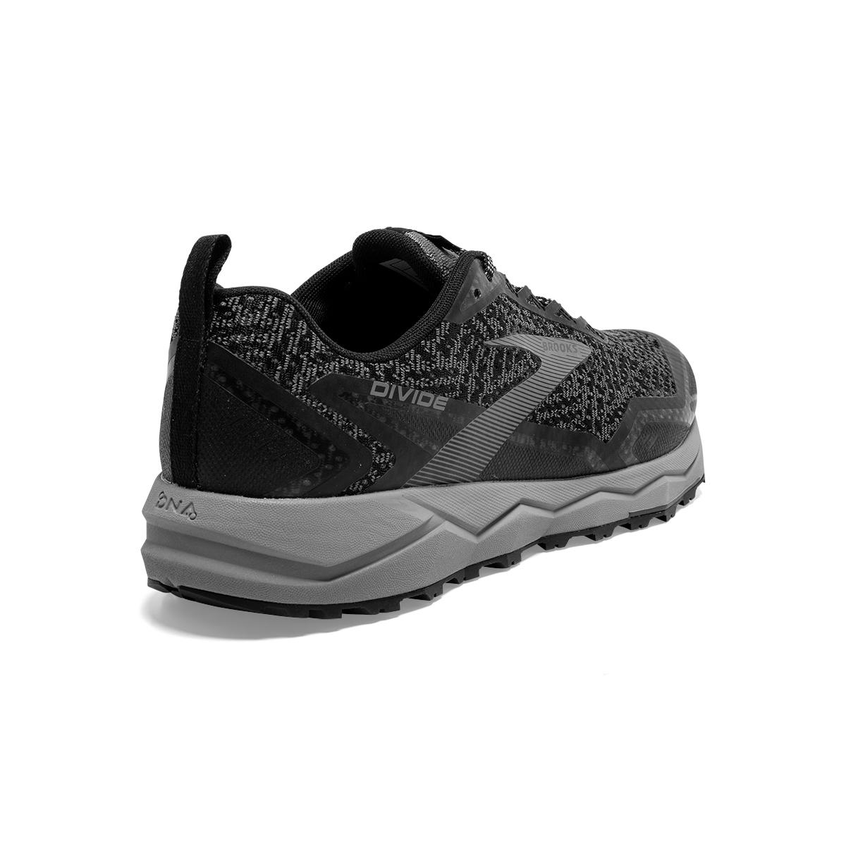Men's Brooks Divide Trail Running Shoe - Color: Black/Grey (Regular Width) - Size: 7, Black/Grey, large, image 5