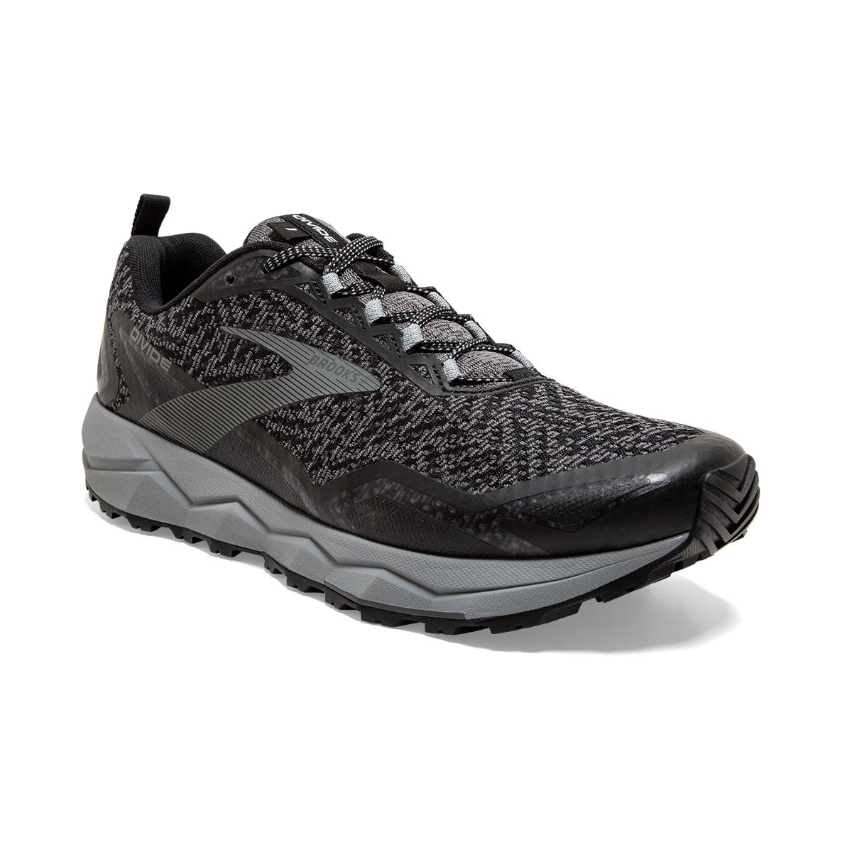 Men's Brooks Divide Trail Running Shoe - Color: Black/Grey (Regular Width) - Size: 7, Black/Grey, large, image 6