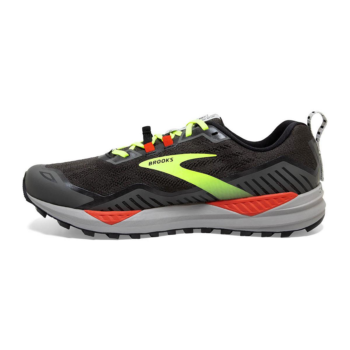 Men's Brooks Cascadia 15 Trail Running Shoe - Color: Black/Raven - Size: 8.5 - Width: Regular, Black/Raven, large, image 2