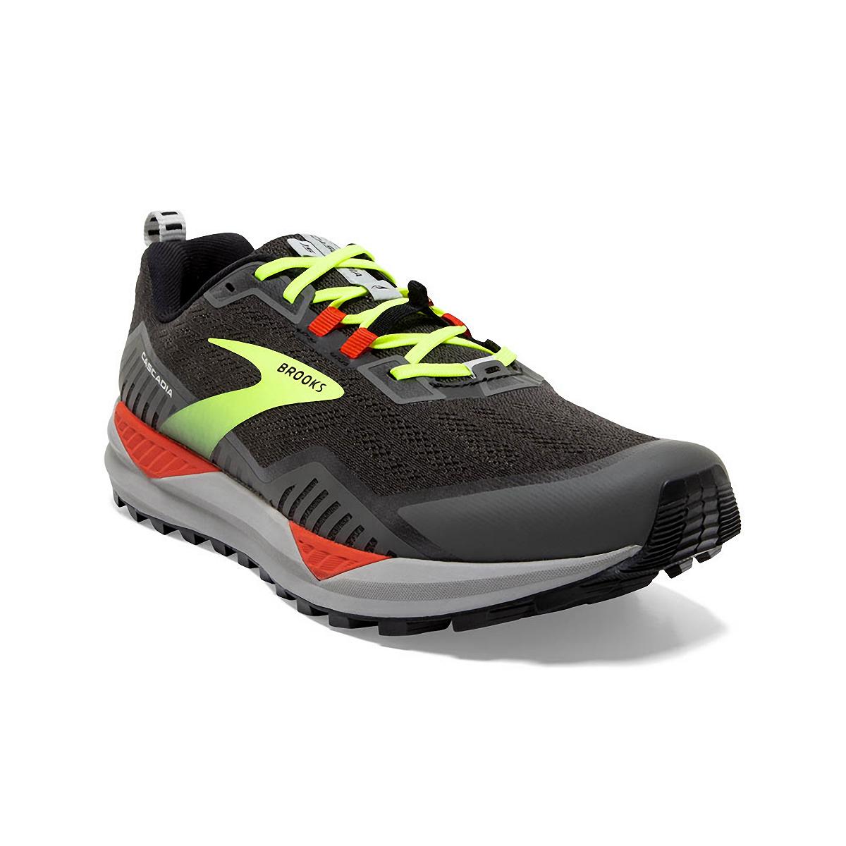 Men's Brooks Cascadia 15 Trail Running Shoe - Color: Black/Raven - Size: 8.5 - Width: Regular, Black/Raven, large, image 3