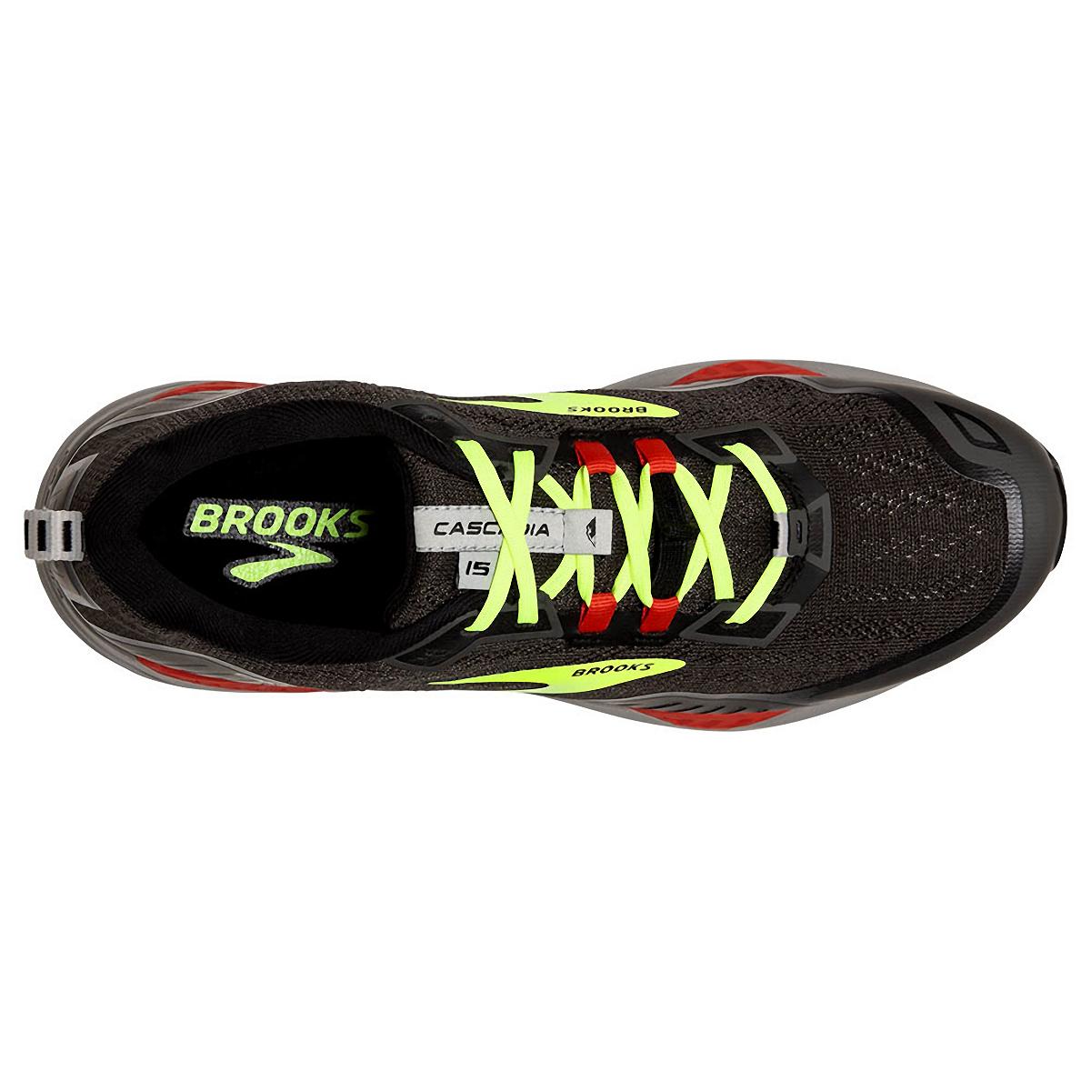 Men's Brooks Cascadia 15 Trail Running Shoe - Color: Black/Raven - Size: 8.5 - Width: Regular, Black/Raven, large, image 5