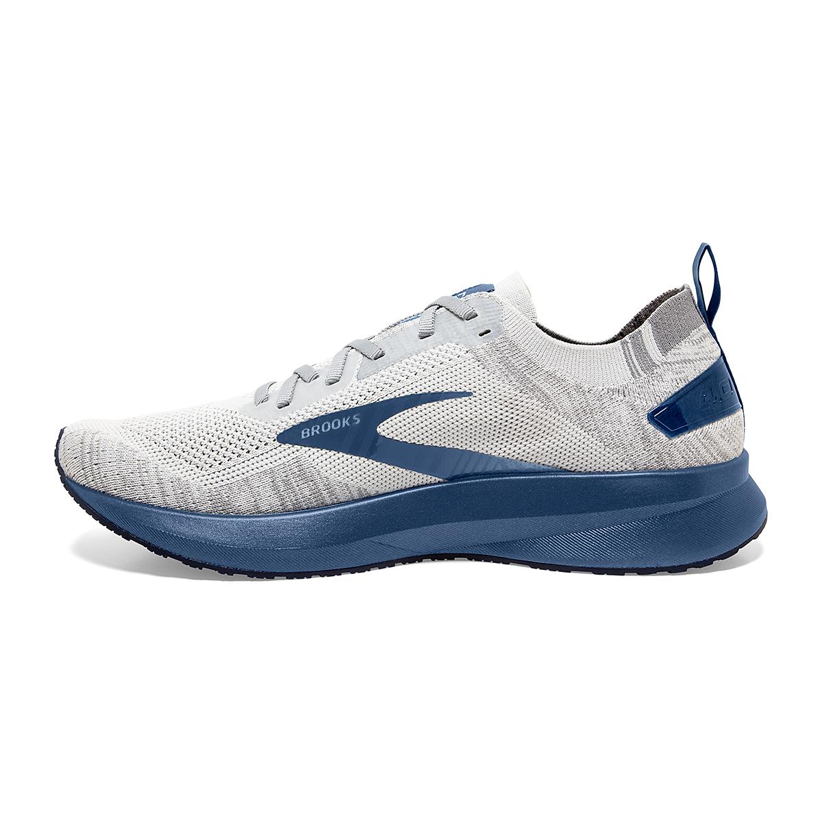 Men's Brooks Levitate 4 Running Shoe - Color: Grey/Oyster/Blue - Size: 7 - Width: Regular, Grey/Oyster/Blue, large, image 1