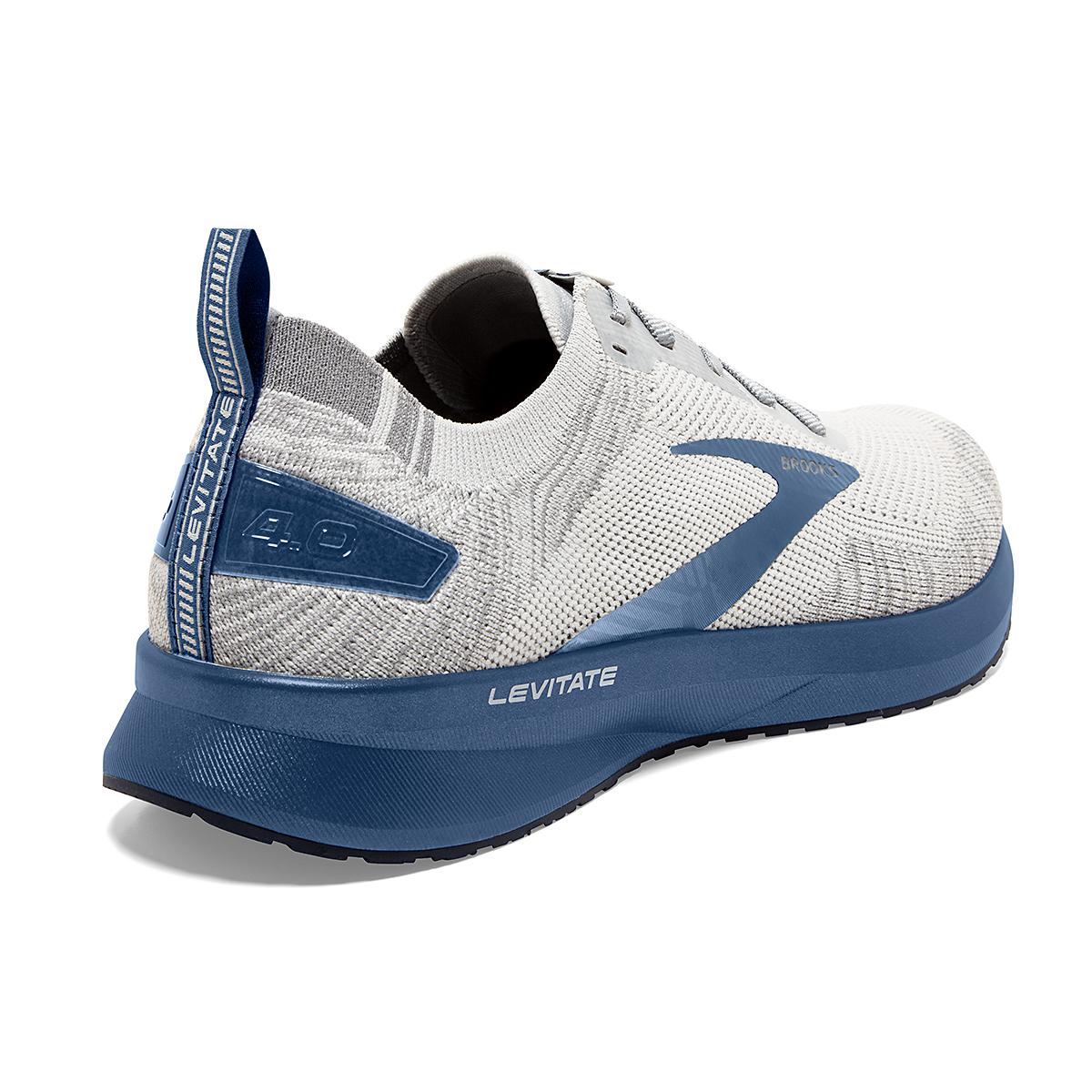 Men's Brooks Levitate 4 Running Shoe - Color: Grey/Oyster/Blue - Size: 7 - Width: Regular, Grey/Oyster/Blue, large, image 2