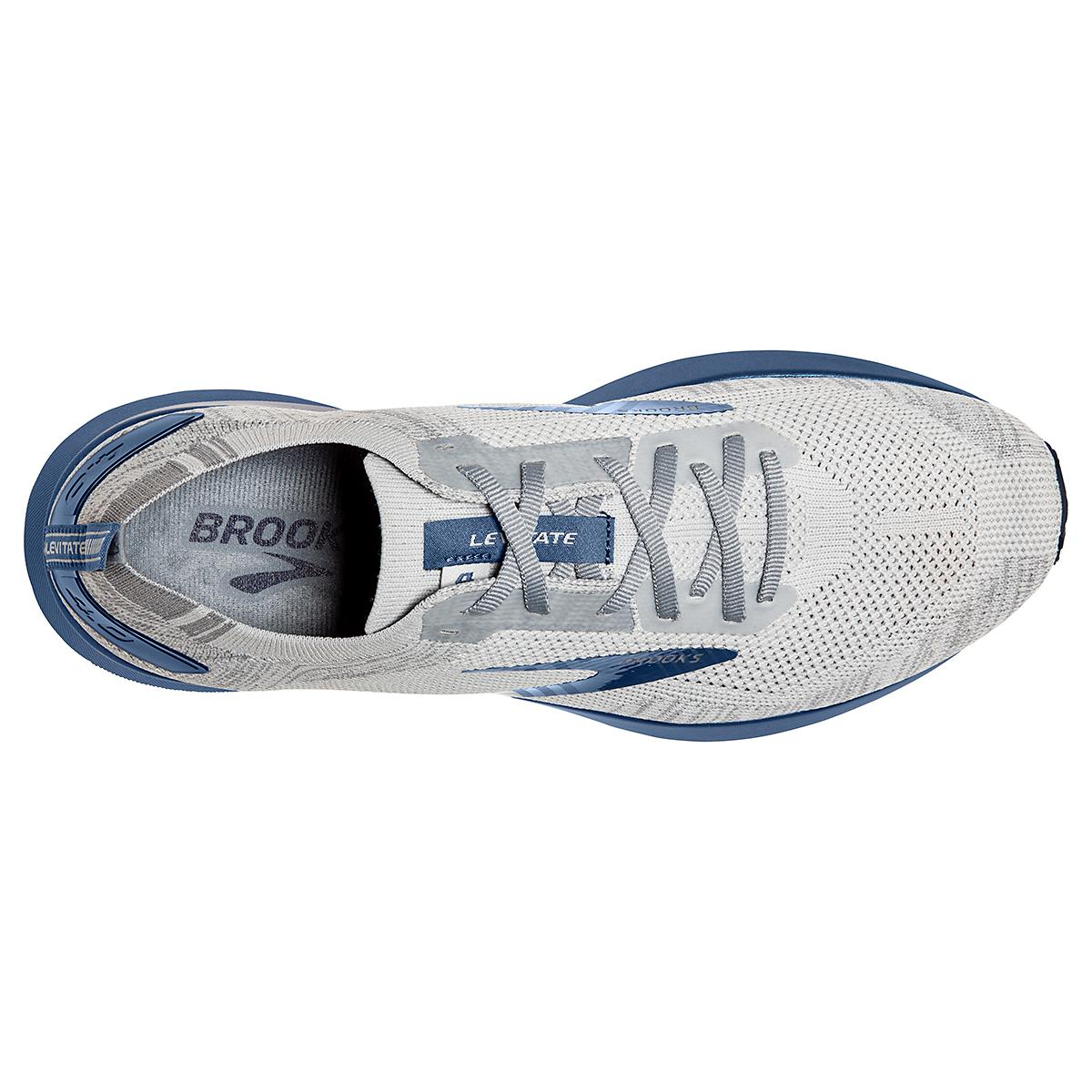 Men's Brooks Levitate 4 Running Shoe - Color: Grey/Oyster/Blue - Size: 7 - Width: Regular, Grey/Oyster/Blue, large, image 3
