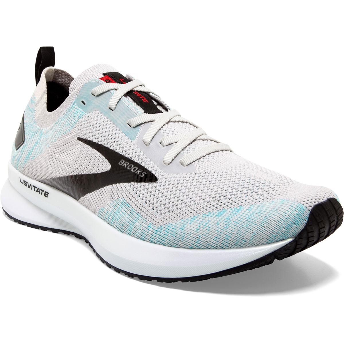 Men's Brooks Levitate 4 Running Shoe - Color: Grey/Black/Capri - Size: 8 - Width: Regular, Grey/Black/Capri, large, image 2