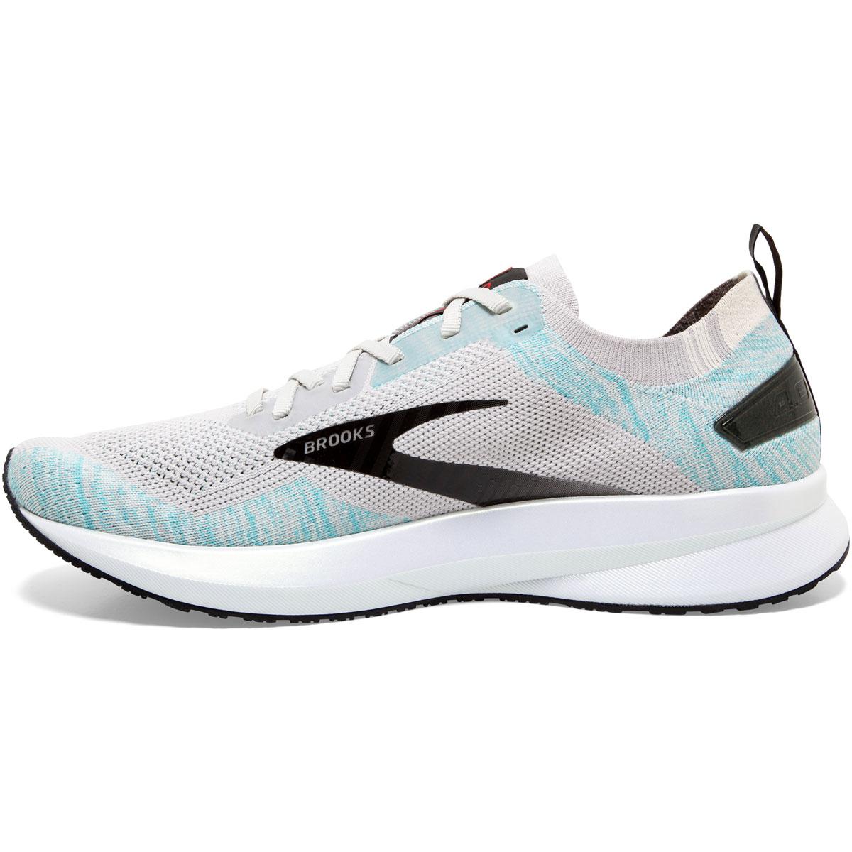 Men's Brooks Levitate 4 Running Shoe - Color: Grey/Black/Capri - Size: 8 - Width: Regular, Grey/Black/Capri, large, image 3
