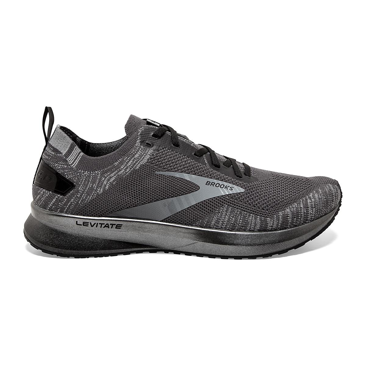 Men's Brooks Levitate 4 Running Shoe - Color: Blackened Pearl/Grey/Black - Size: 8 - Width: Regular, Blackened Pearl/Grey/Black, large, image 1