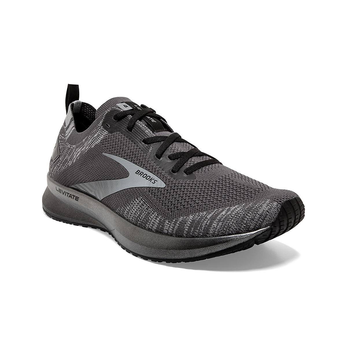 Men's Brooks Levitate 4 Running Shoe - Color: Blackened Pearl/Grey/Black - Size: 8 - Width: Regular, Blackened Pearl/Grey/Black, large, image 2