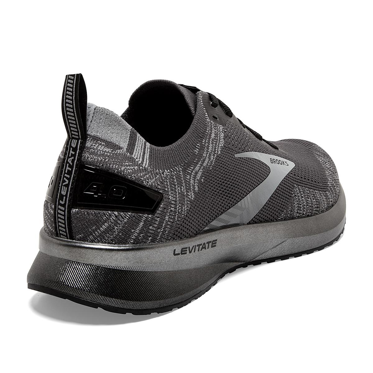Men's Brooks Levitate 4 Running Shoe - Color: Blackened Pearl/Grey/Black - Size: 8 - Width: Regular, Blackened Pearl/Grey/Black, large, image 3