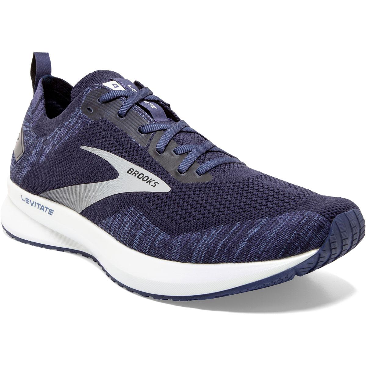 Men's Brooks Levitate 4 Running Shoe - Color: Navy/Grey/White - Size: 7 - Width: Regular, Navy/Grey/White, large, image 2