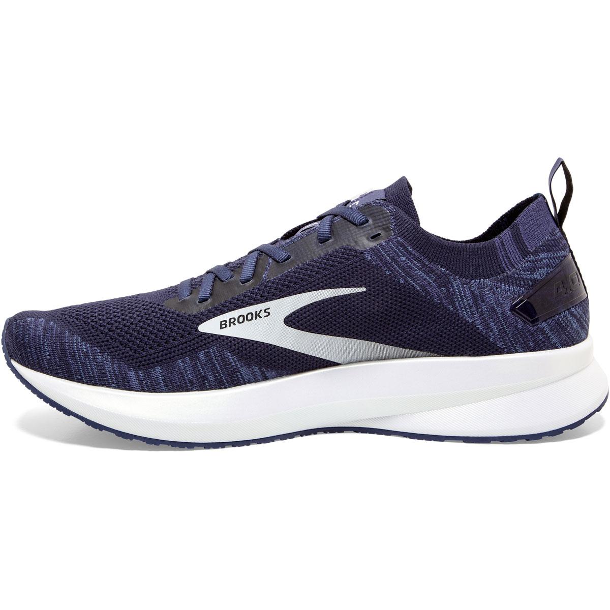 Men's Brooks Levitate 4 Running Shoe - Color: Navy/Grey/White - Size: 7 - Width: Regular, Navy/Grey/White, large, image 3