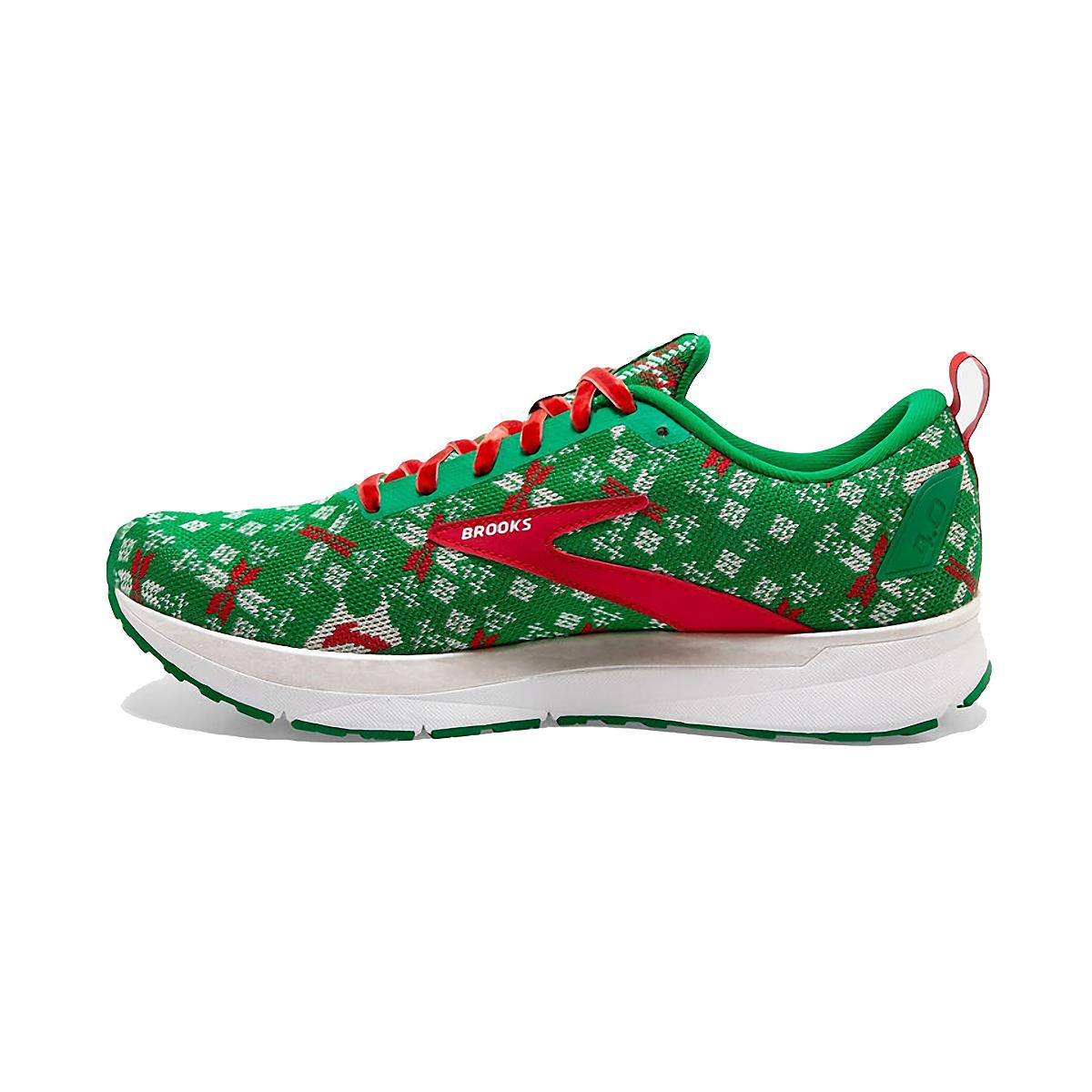 Men's Brooks Run Merry Revel 4 Running Shoe - Color: Jolly Green/Red/White - Size: 7 - Width: Regular, Jolly Green/Red/White, large, image 2