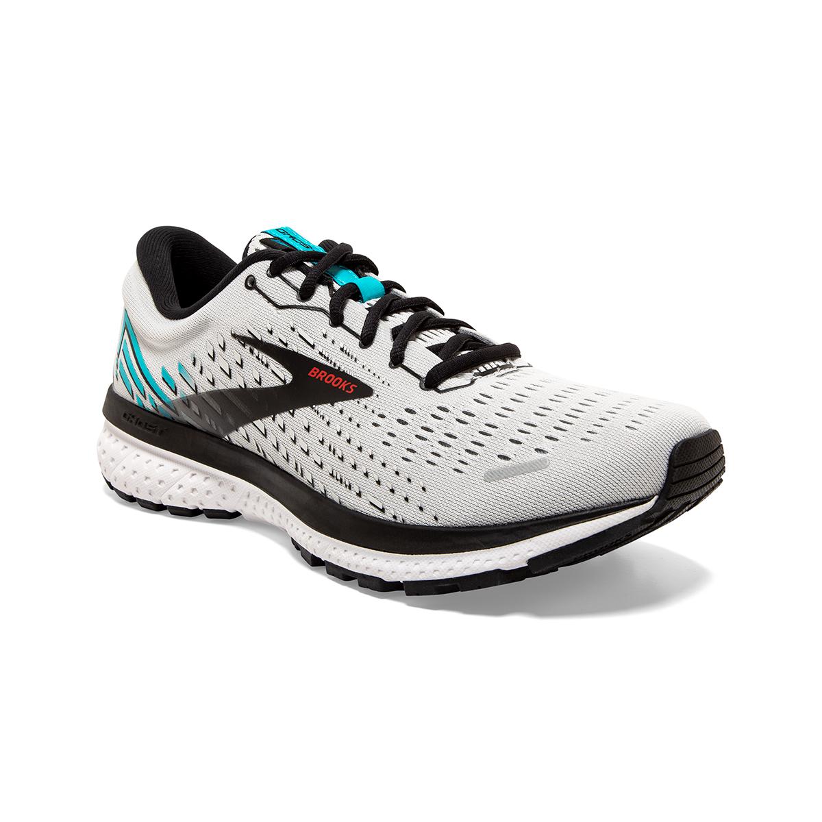 Men's Brooks Ghost 13 Running Shoe - Color: Grey/Black - Size: 7 - Width: Regular, Grey/Black, large, image 4