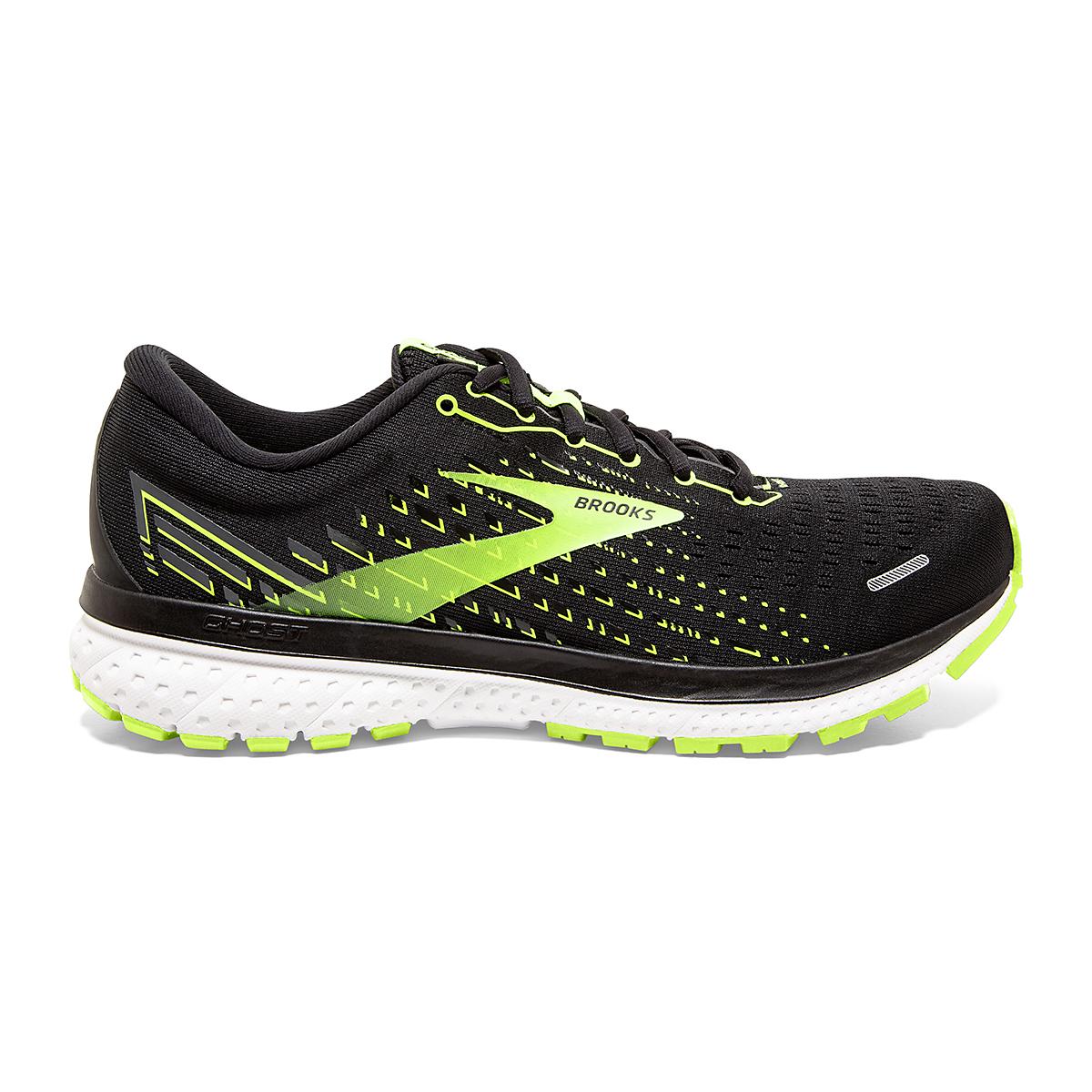 Men's Brooks Ghost 13 Running Shoe - Color: Black/Nightlife/White - Size: 7 - Width: Regular, Black/Nightlife/White, large, image 1