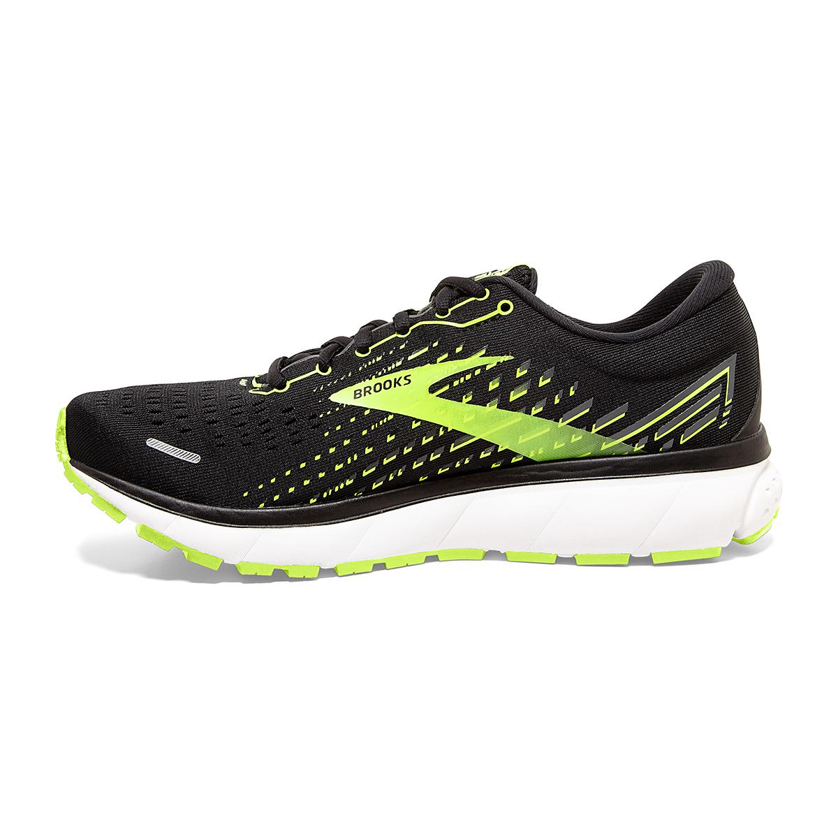 Men's Brooks Ghost 13 Running Shoe - Color: Black/Nightlife/White - Size: 7 - Width: Regular, Black/Nightlife/White, large, image 2