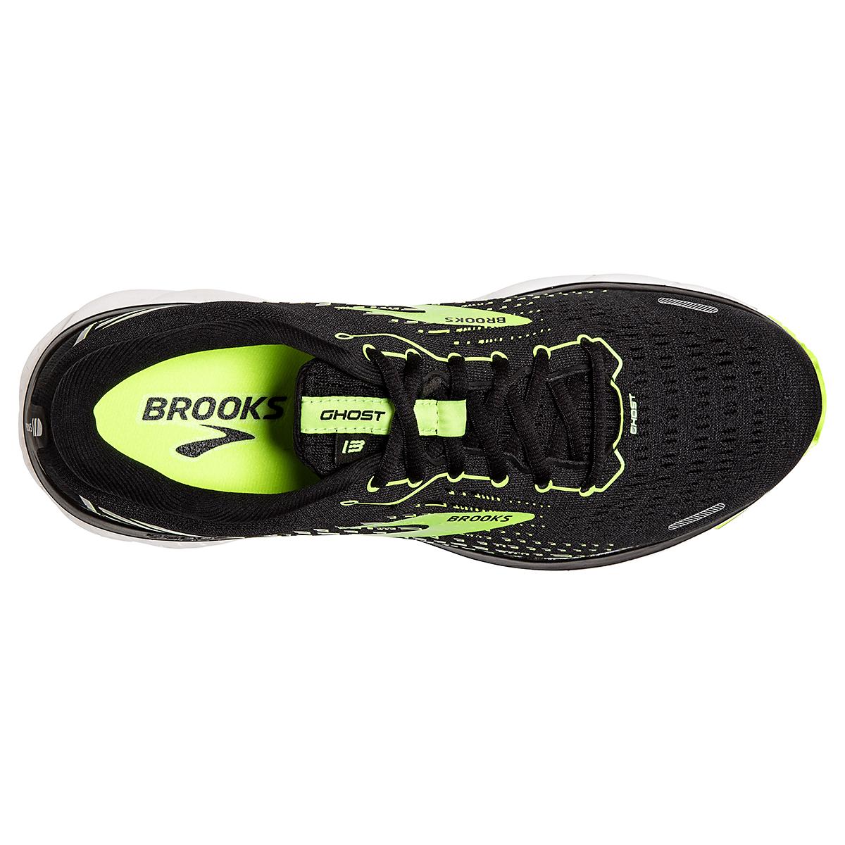 Men's Brooks Ghost 13 Running Shoe - Color: Black/Nightlife/White - Size: 7 - Width: Regular, Black/Nightlife/White, large, image 3