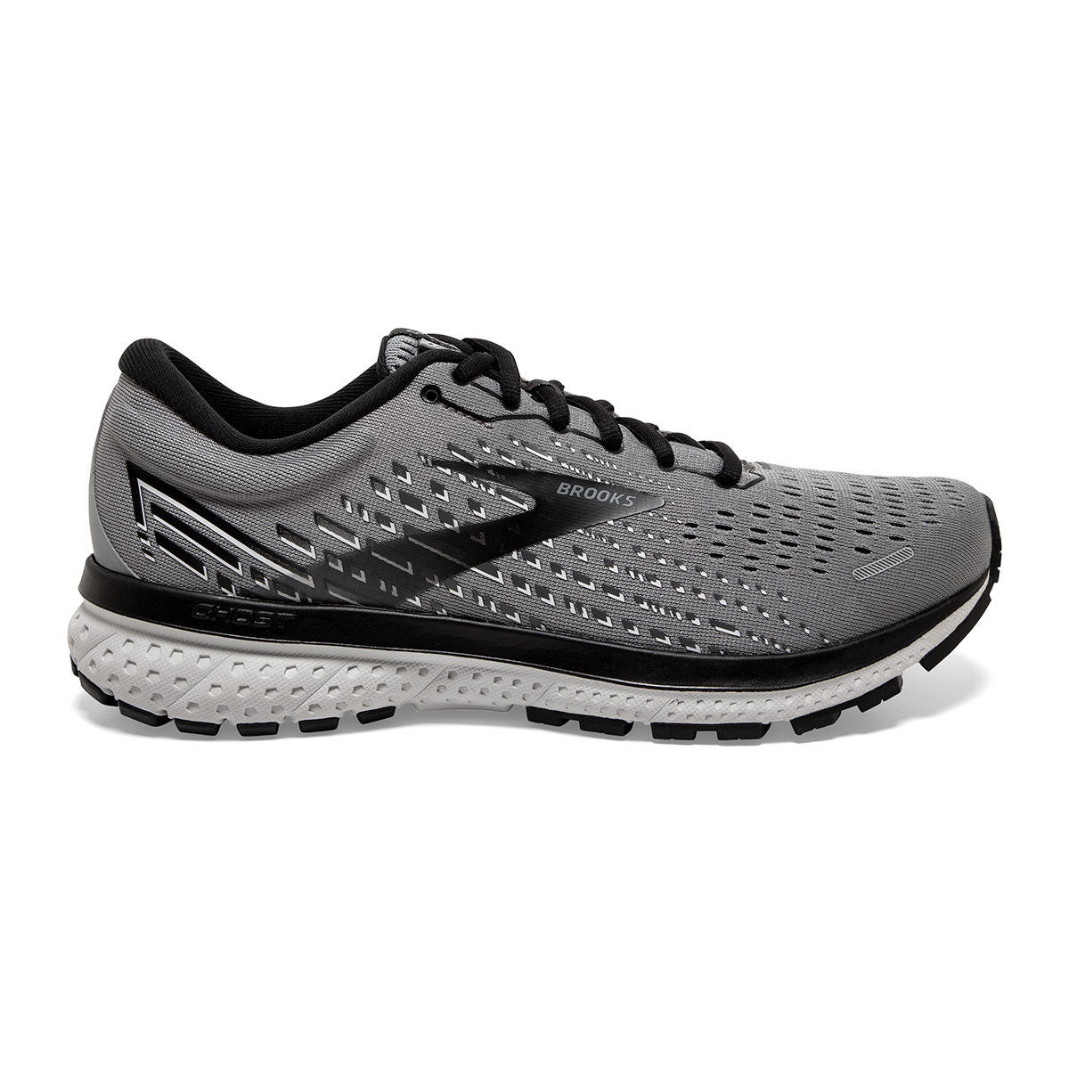 Men's Brooks Ghost 13 Running Shoe - Color: Primer Grey - Size: 7 - Width: Regular, Primer Grey, large, image 1