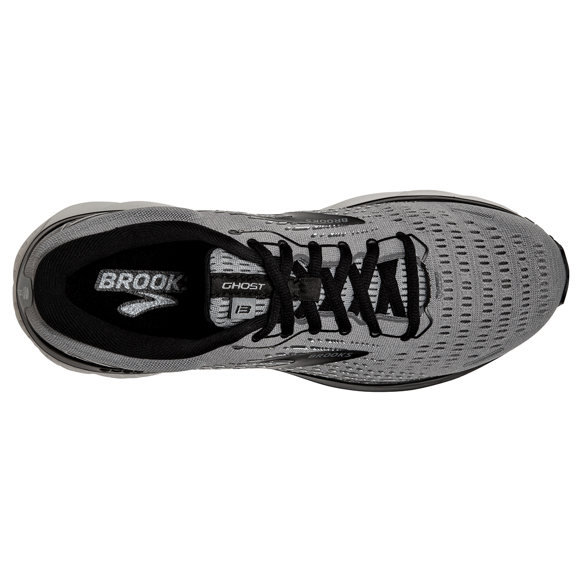 Men's Brooks Ghost 13 Running Shoe - Color: Primer Grey - Size: 7 - Width: Regular, Primer Grey, large, image 2