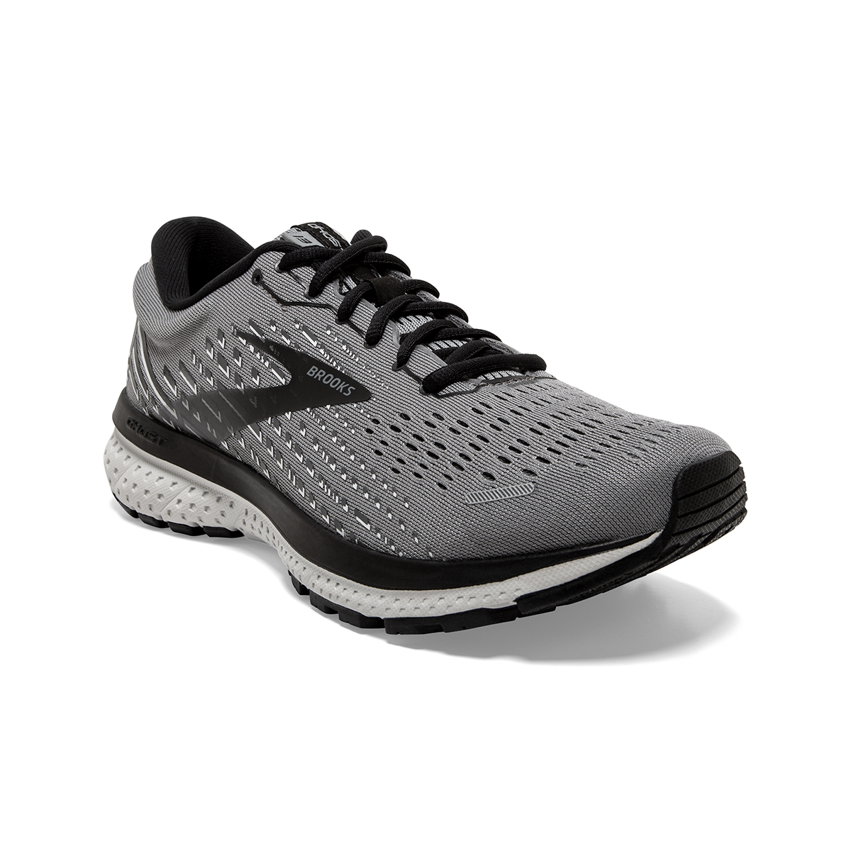 Men's Brooks Ghost 13 Running Shoe - Color: Primer Grey - Size: 7 - Width: Regular, Primer Grey, large, image 4