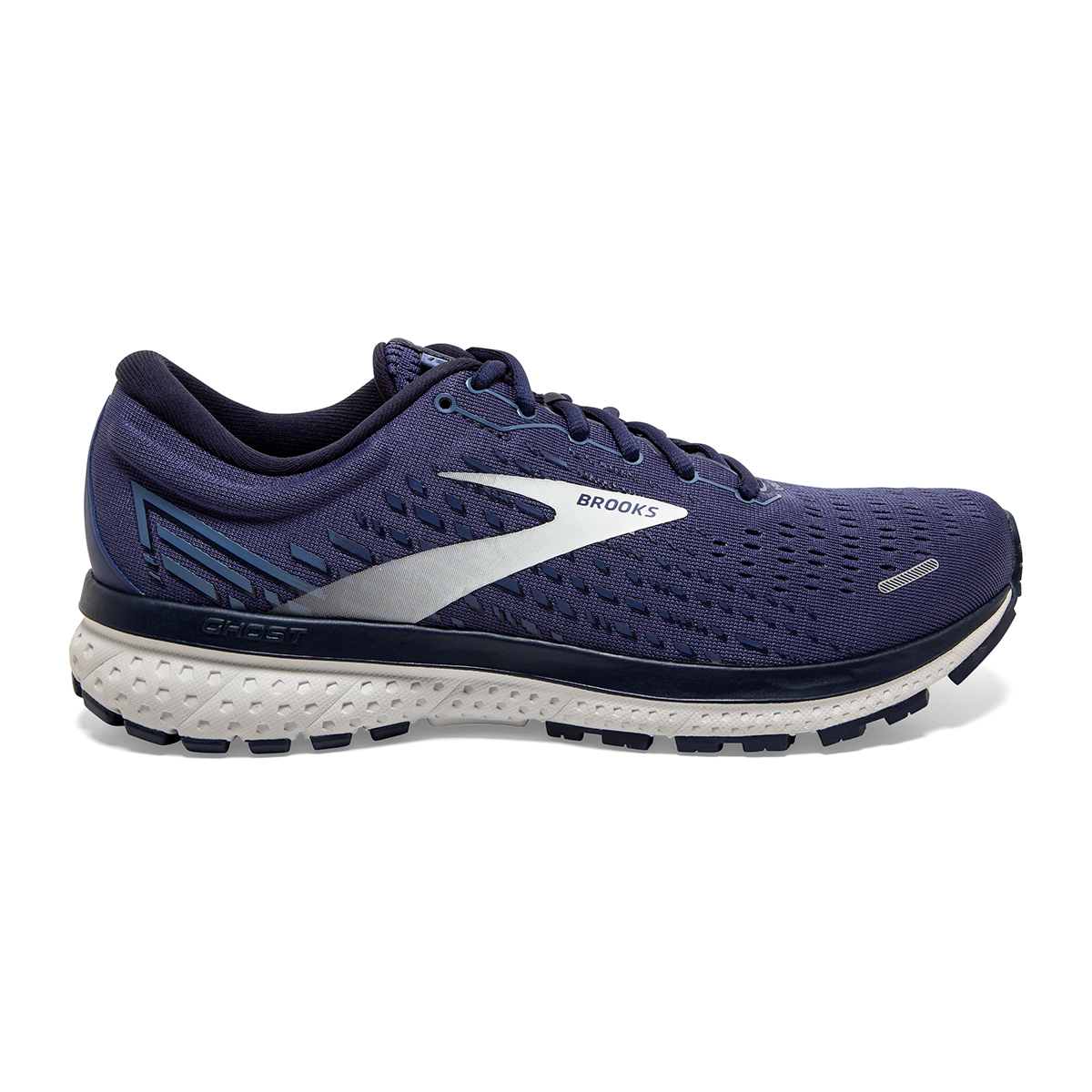Men's Brooks Ghost 13 Running Shoe - Color: Deep Cobalt/Grey - Size: 7 - Width: Regular, Deep Cobalt/Grey, large, image 1