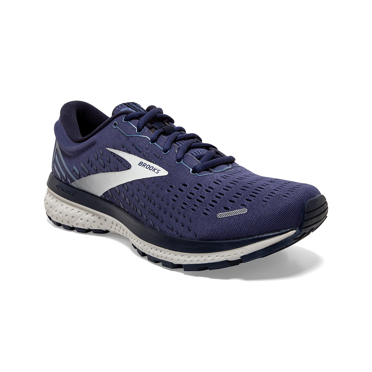 Men's Brooks Ghost 13 Running Shoe - Color: Deep Cobalt/Grey - Size: 7 - Width: Regular, Deep Cobalt/Grey, large, image 4