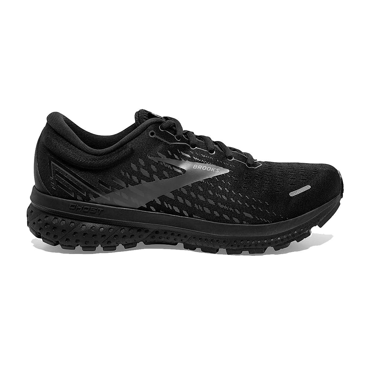 Men's Brooks Ghost 13 Running Shoe - Color: Black/Black - Size: 7 - Width: Regular, Black/Black, large, image 1