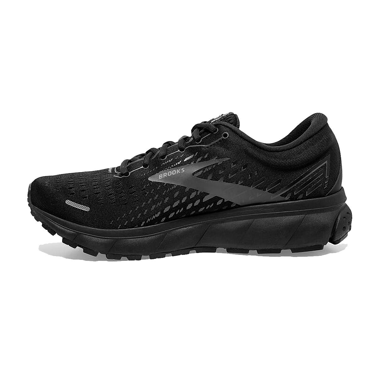 Men's Brooks Ghost 13 Running Shoe - Color: Black/Black - Size: 7 - Width: Regular, Black/Black, large, image 2