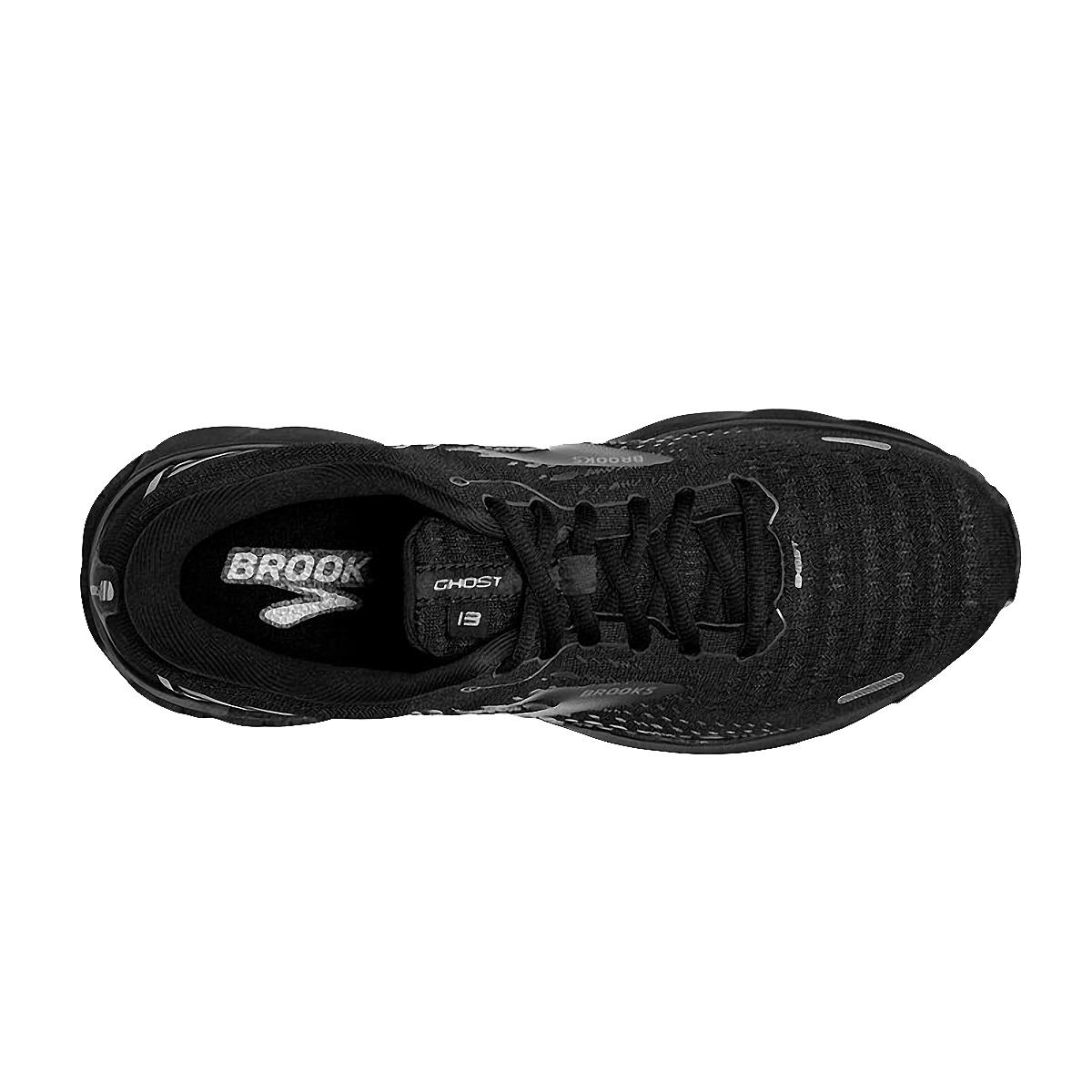 Men's Brooks Ghost 13 Running Shoe - Color: Black/Black - Size: 7 - Width: Regular, Black/Black, large, image 3