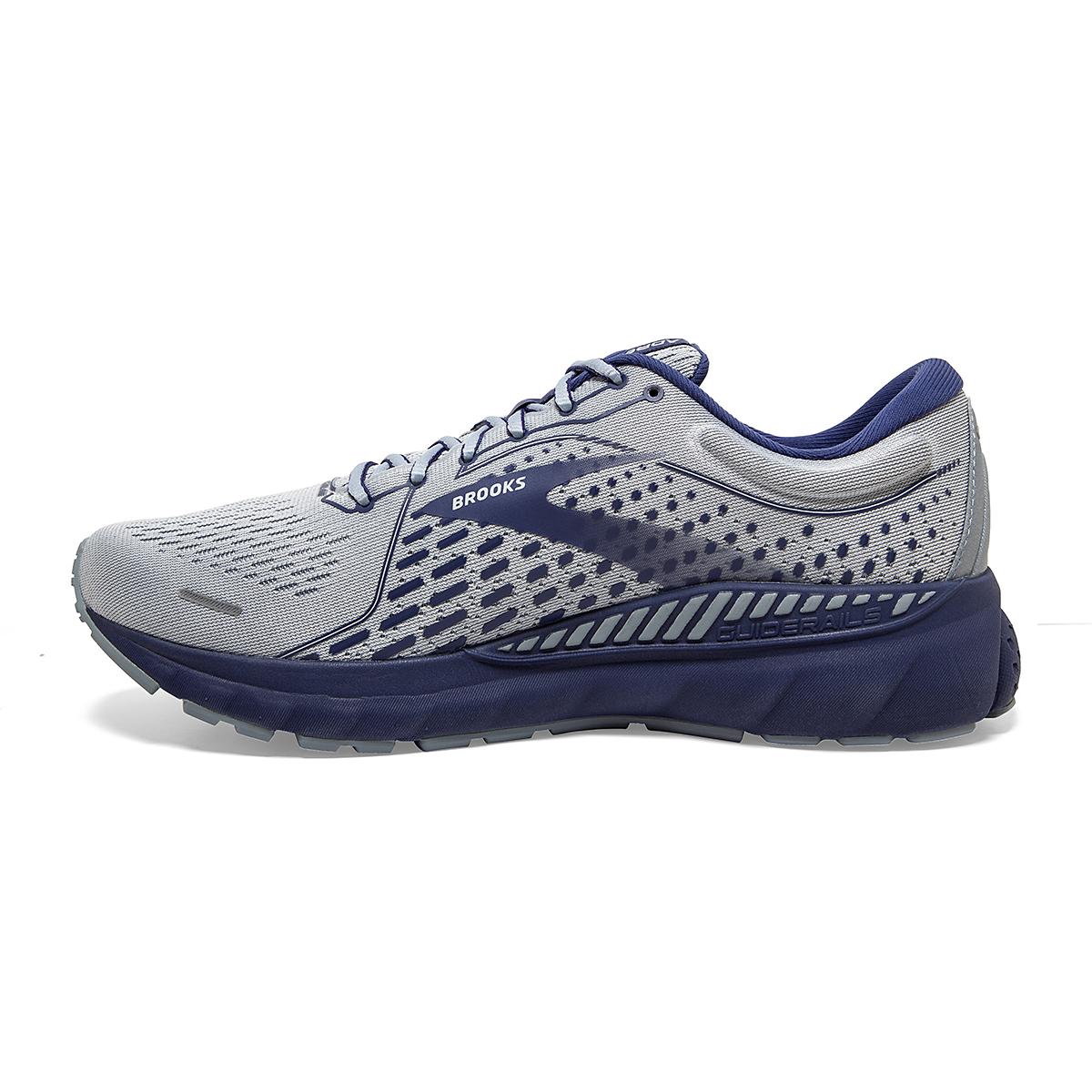 Men's Brooks Adrenaline GTS 21 Running Shoe - Color: Grey/Tradewinds - Size: 7 - Width: Regular, Grey/Tradewinds, large, image 2