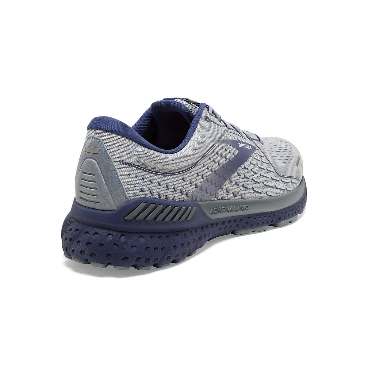 Men's Brooks Adrenaline GTS 21 Running Shoe - Color: Grey/Tradewinds - Size: 7 - Width: Regular, Grey/Tradewinds, large, image 4
