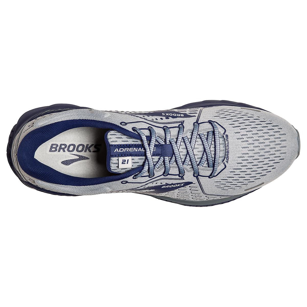 Men's Brooks Adrenaline GTS 21 Running Shoe - Color: Grey/Tradewinds - Size: 7 - Width: Regular, Grey/Tradewinds, large, image 5