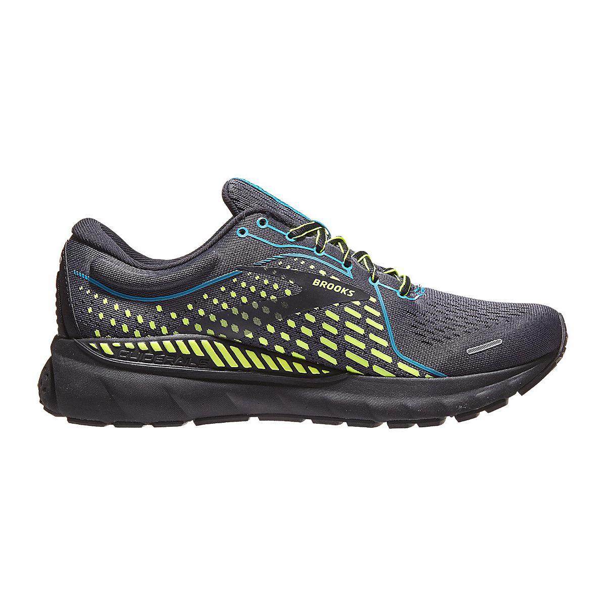 Men's Brooks Adrenaline Gts 21 Running Shoe - Color: Black/Blue Jewel - Size: 8 - Width: Regular, Black/Blue Jewel, large, image 1