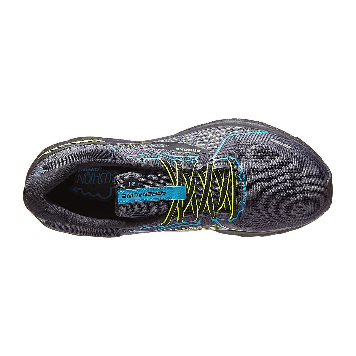 Men's Brooks Adrenaline Gts 21 Running Shoe - Color: Black/Blue Jewel - Size: 8 - Width: Regular, Black/Blue Jewel, large, image 2