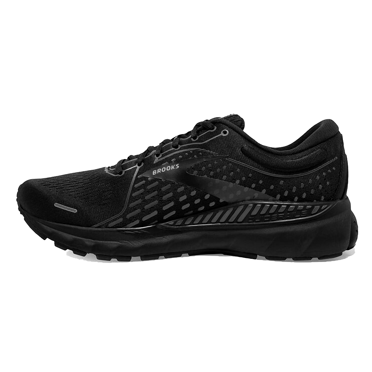 Men's Brooks Adrenaline GTS 21 Running Shoe - Color: Black/Black/Ebony - Size: 7 - Width: Regular, Black/Black/Ebony, large, image 2